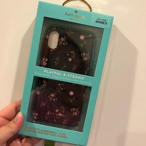 BNWT iPhone X Kate Spade floral Phone Case